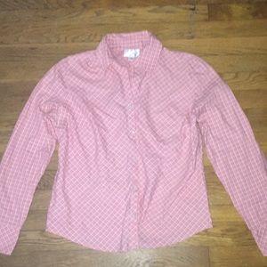 Ann Taylor LOFT Pink Flannel Buttondown